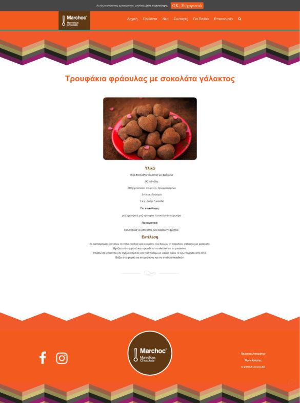 Τρουφάκια φράουλας με σοκολάτα γάλακτος – Marchoc