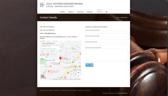 Contact Details _ Lallis - Voutsinos - Papakonstantinou