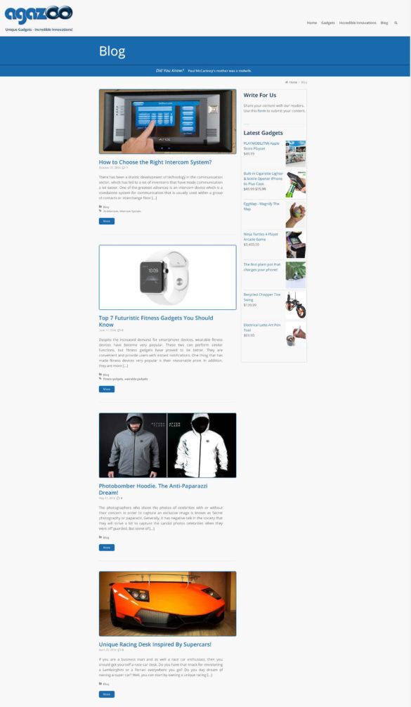 Unique Gadgets - Incredible Innovations - Blog